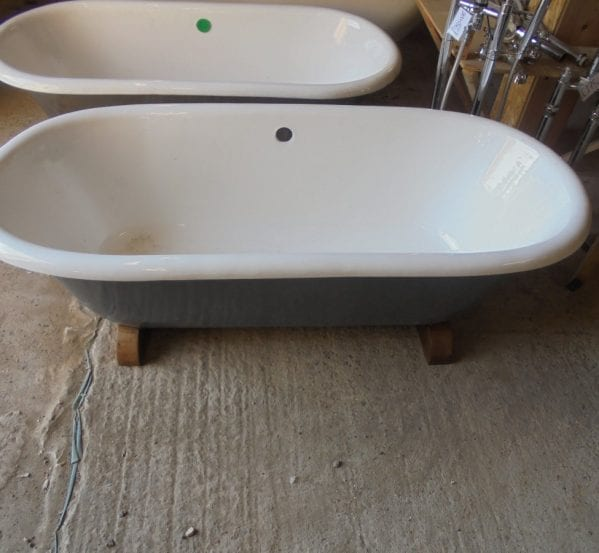 A Reclaimed Double Ended Roll Top Bath
