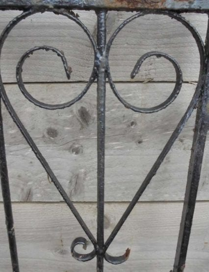 Reclaimed Arched Wrought Iron Gate