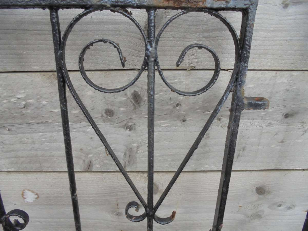 Reclaimed arched wrought iron gate authentic reclamation