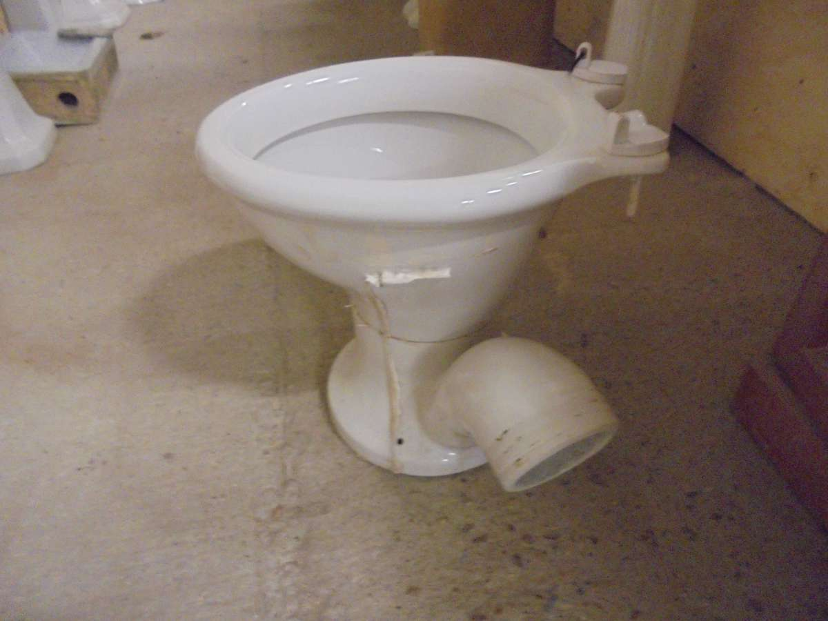 A Reclaimed Toilet With A Side Waste Pipe Authentic