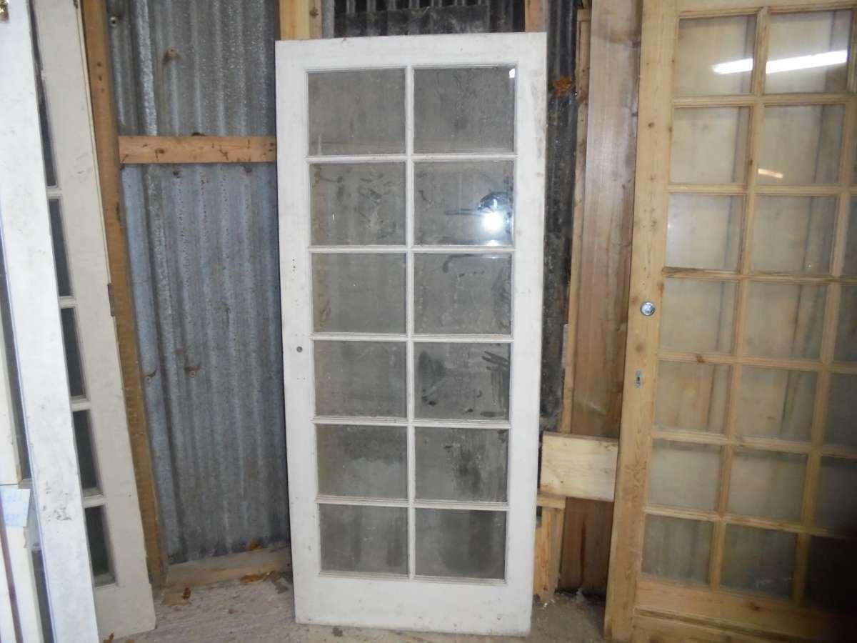 Reclaimed Fully Glazed Plain Glass Door Authentic Reclamation