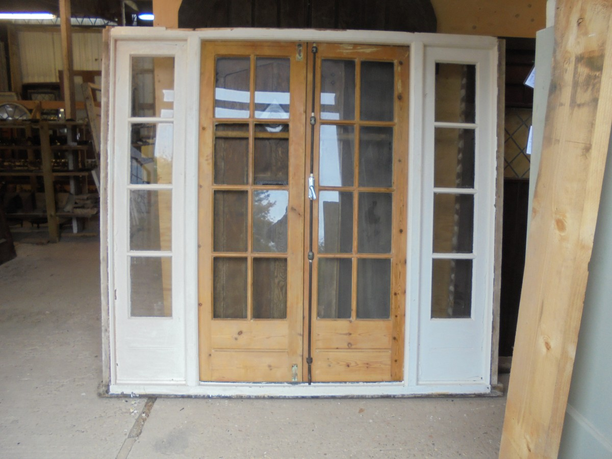 Large French Doors Authentic Reclamation