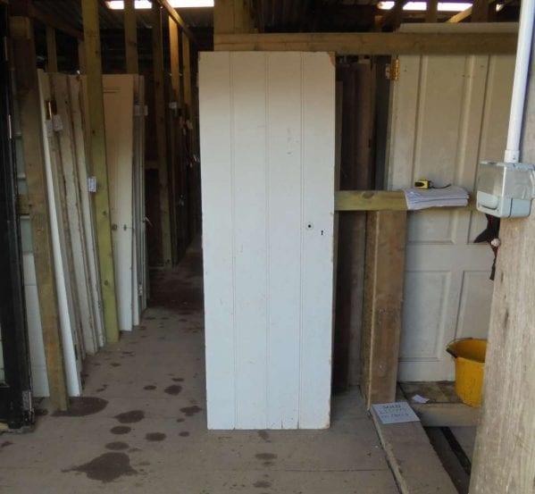 small reclaimed ledge door
