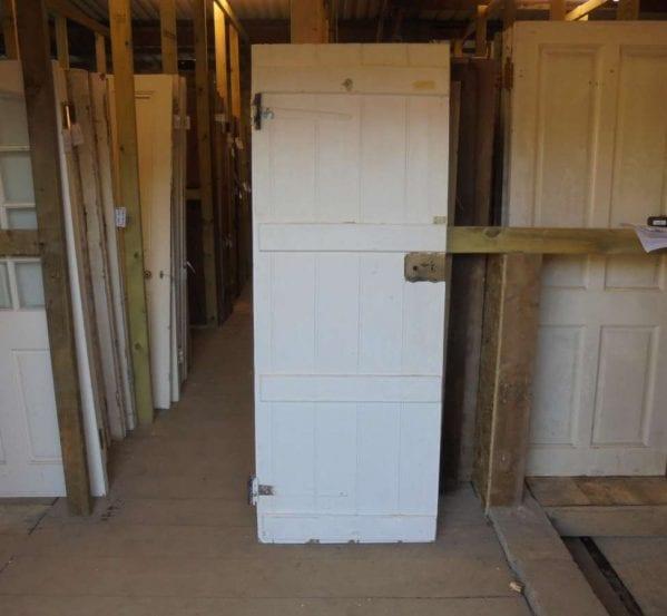 Reclaimed Painted Ledge & Brace Door