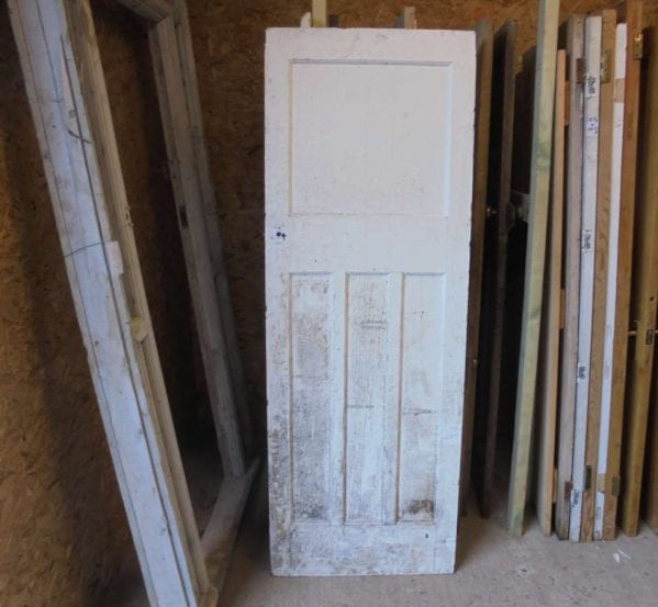 reclaimed 1 over 3 panel door