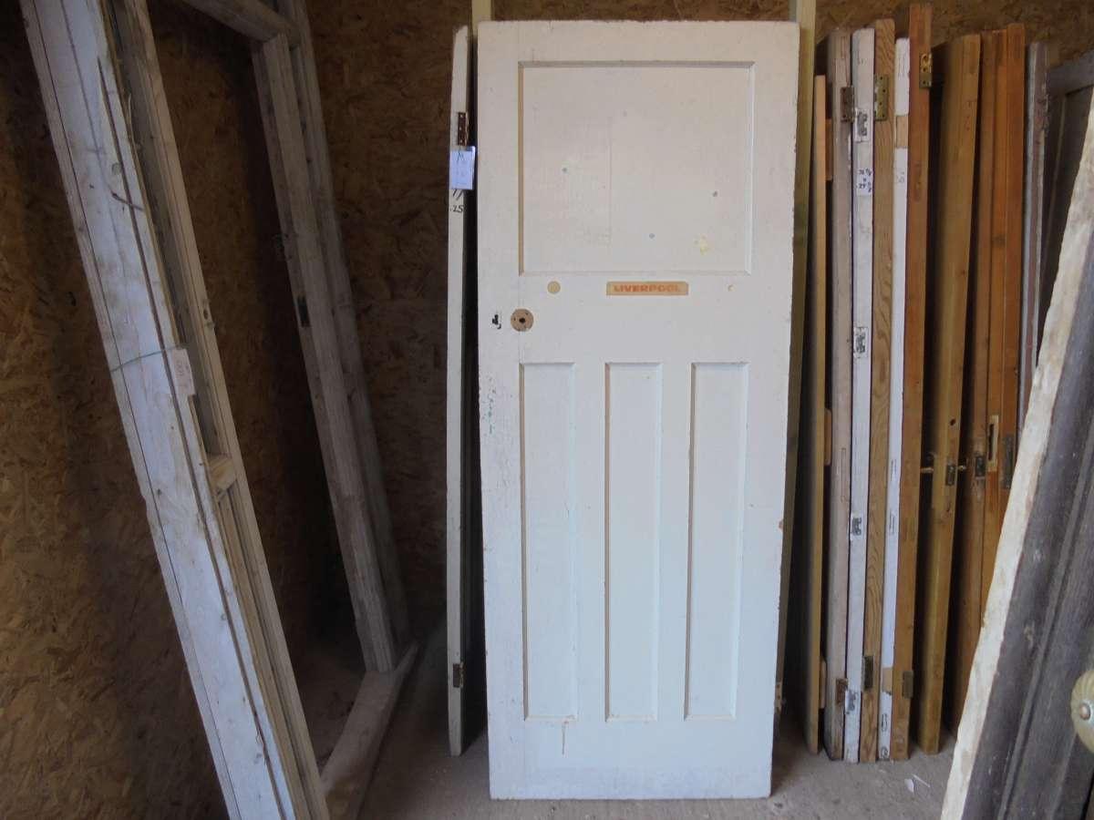 Salvaged 1 over 3 panel door authentic reclamation for 1 over 3 panel door