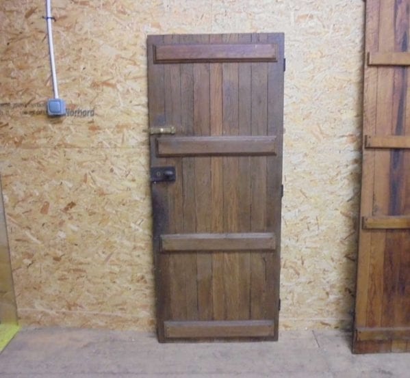 reclaimed antique style ledged door