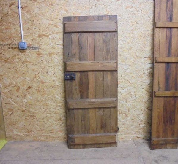 salvaged antique style ledge door