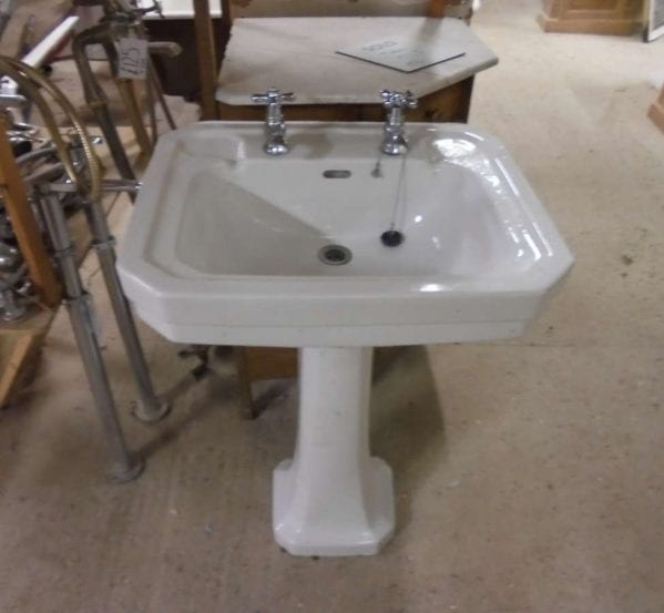 reclaimed sink with pedestal