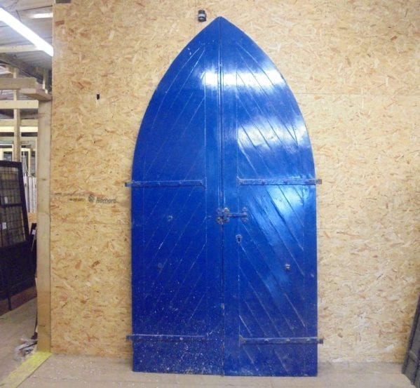 arched church door