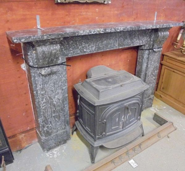 black marble fire surround