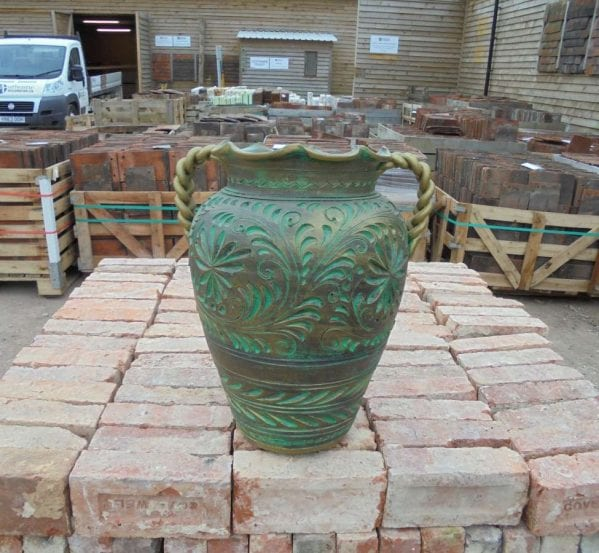 Reclaimed Italian Decorative Pot