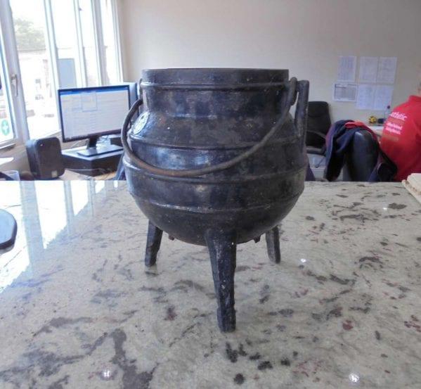 Miniature Reclaimed Cast Iron Cauldron