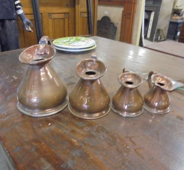 Reclaimed Copper Measuring Jugs