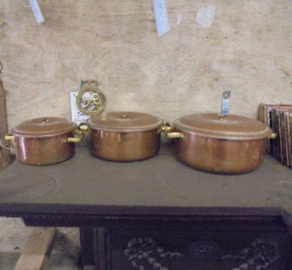 Reclaimed Copper Pans Trio