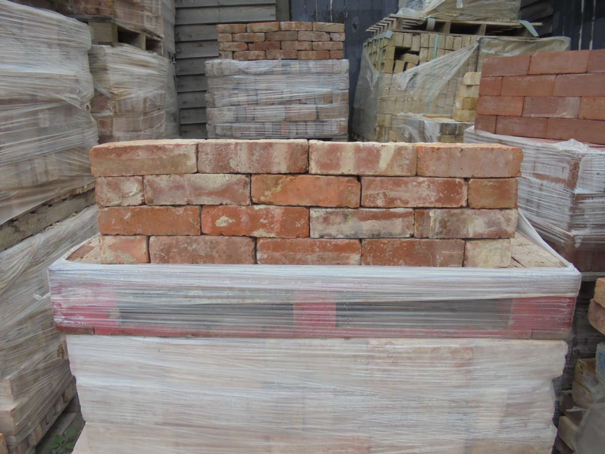 Wire-Cut Red Bricks