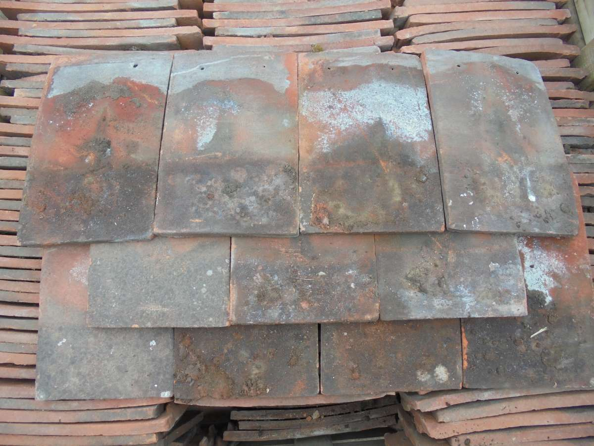 Reclaimed Orange Clay Nib Tiles Weathered