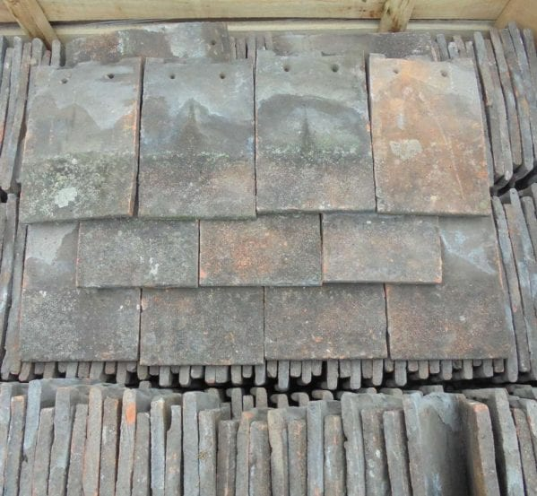 Reclaimed Dark Clay Nib Tiles