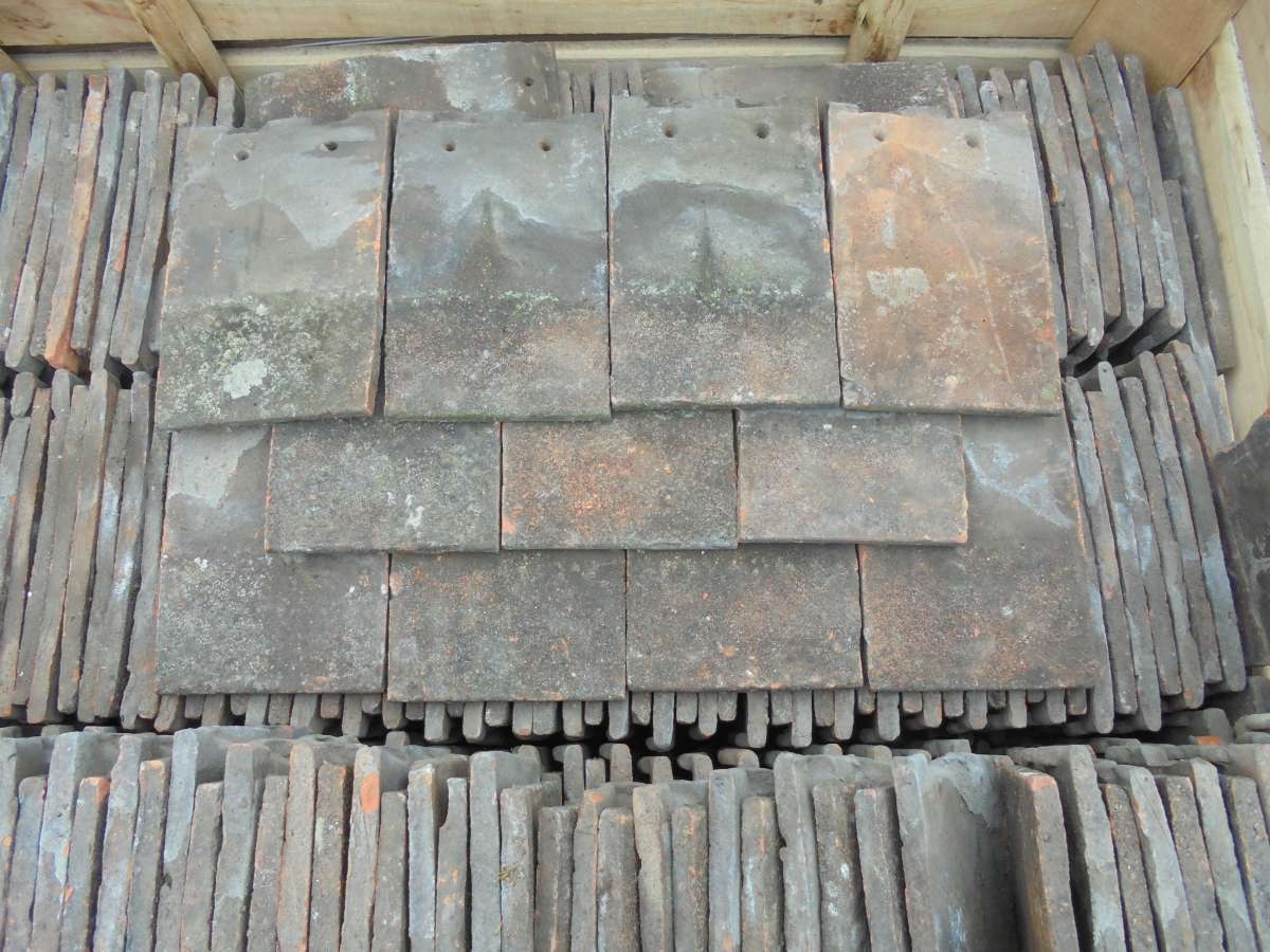 Reclaimed Dark Clay Nib Tiles