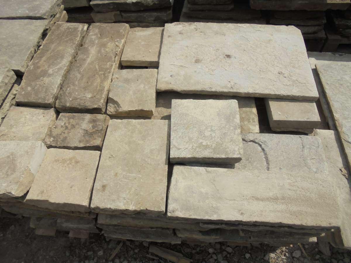 Reclaimed small York stone slabs