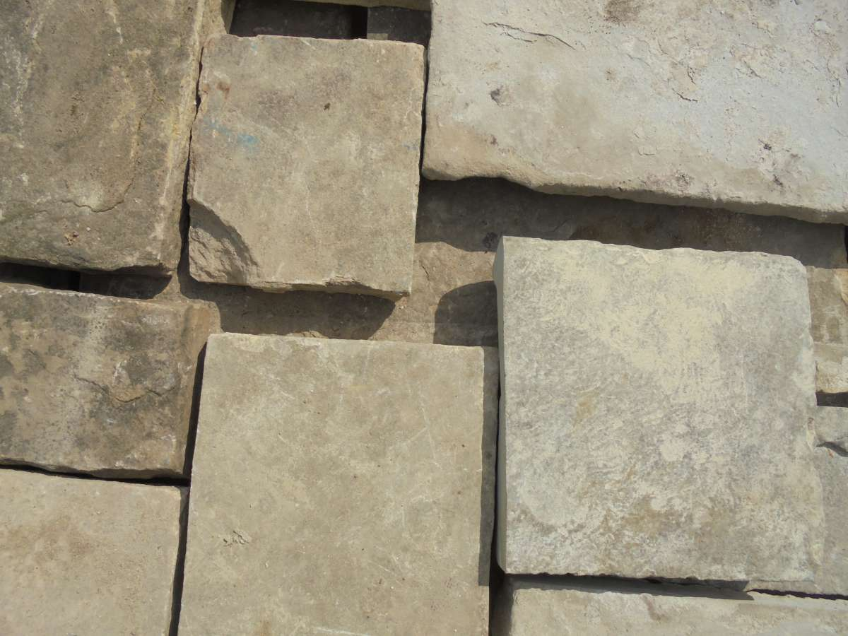 Reclaimed small York stone slabs