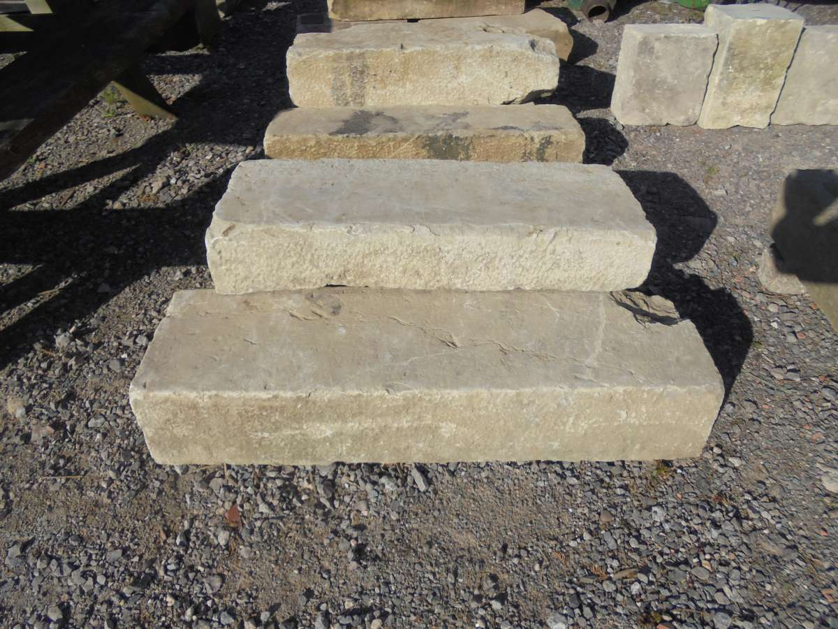 Reclaimed Sandstone Steps
