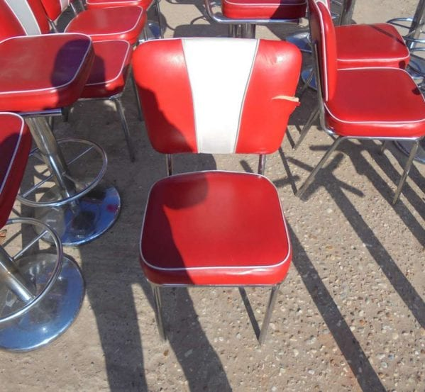 Reclaimed American Style Diner Chair Damaged