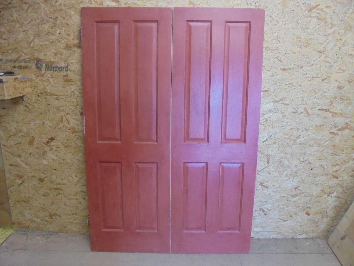 Reclaimed Pair of 4 Decorative Panel Doors