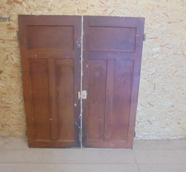 Reclaimed Painted Cupboard Door Pair