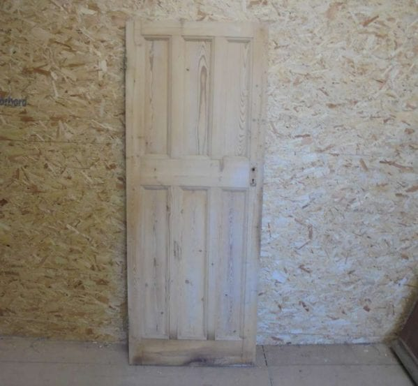 Reclaimed Pine 6 Panel Door (3 Over 3)
