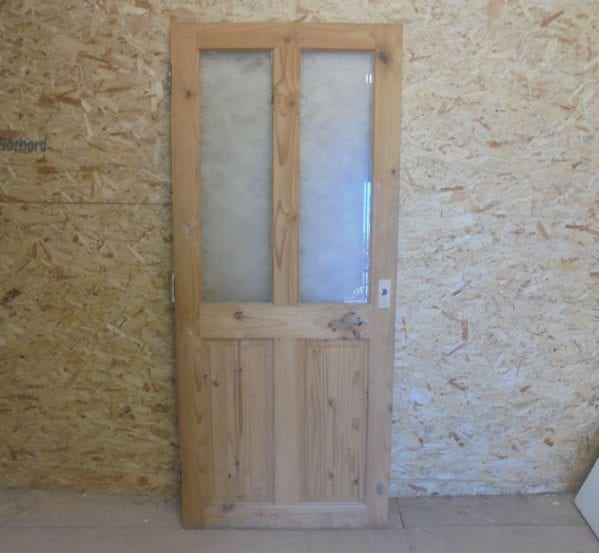 Reclaimed 2 over 2 Half Glazed Door