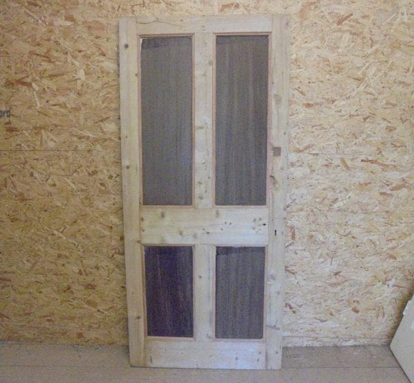 Beaded Pine Reclaimed 4 Panel Door