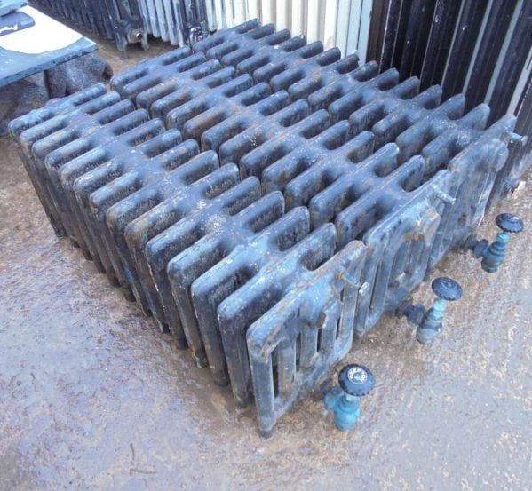 Reclaimed 5 bar radiators