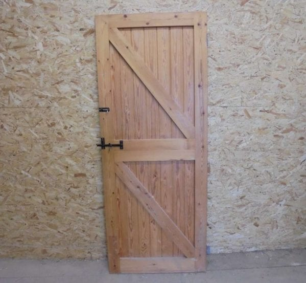 Reclaimed Framed Ledge Brace Door