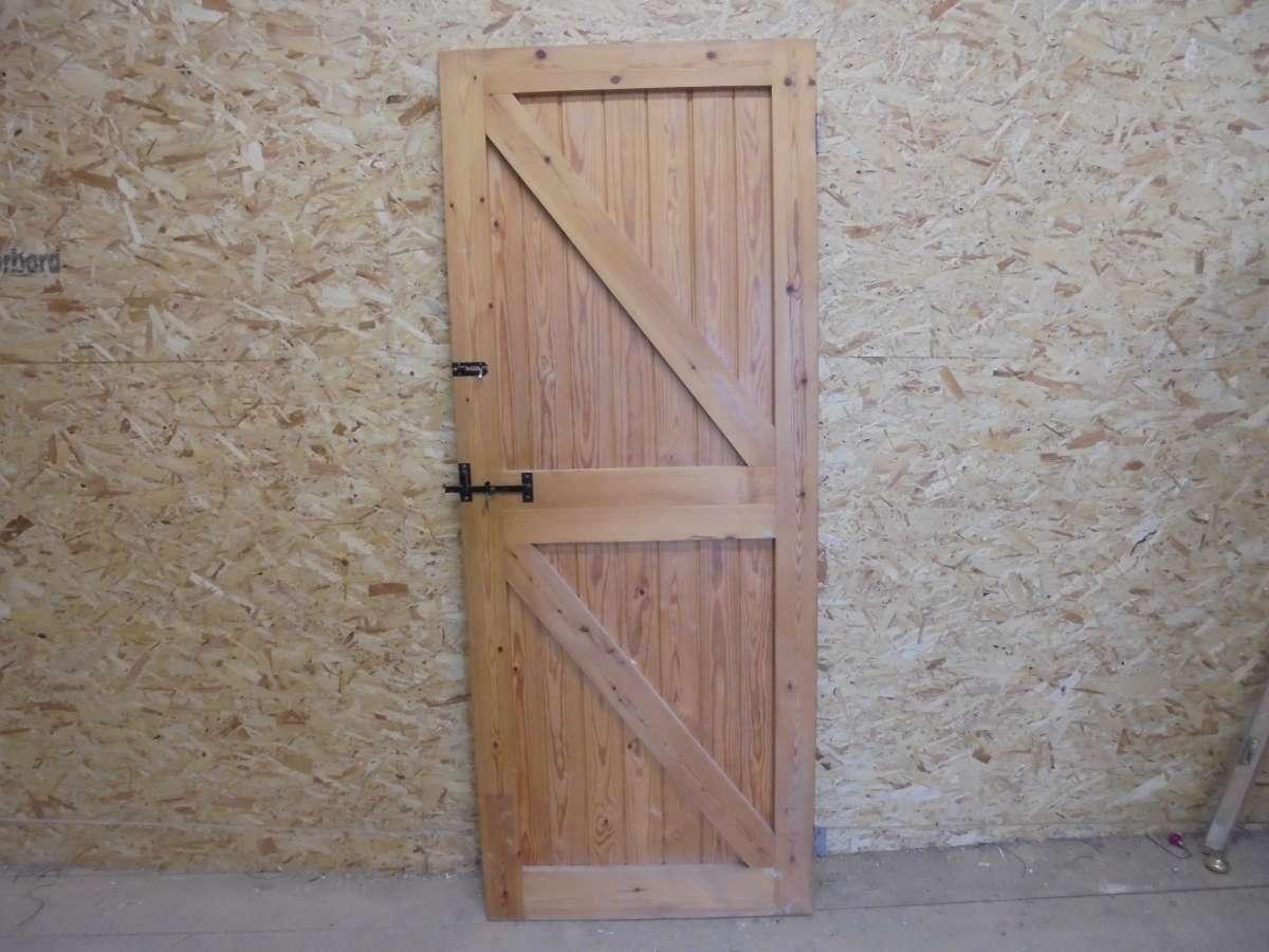 Reclaimed Framed Ledge Brace Door - Authentic Reclamation