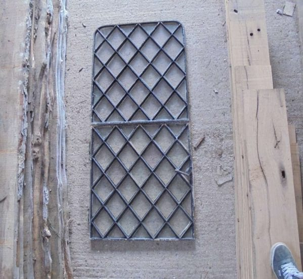 Reclaimed Metal Diamond Windows