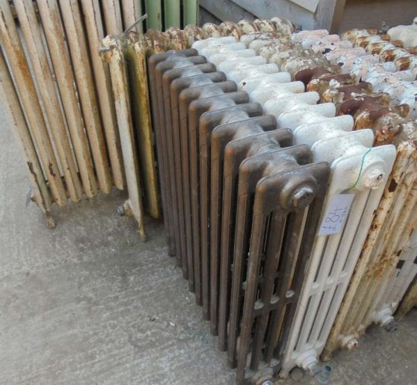 Reclaimed four bar radiator