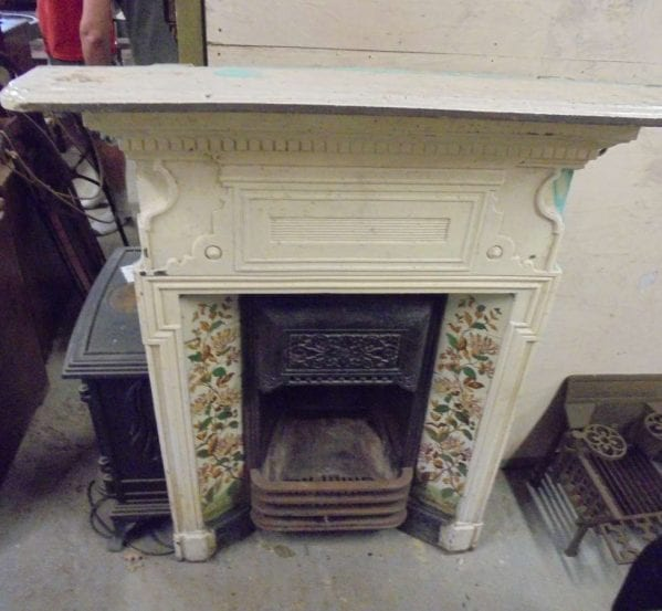 Reclaimed Victorian Fireplace Painted White