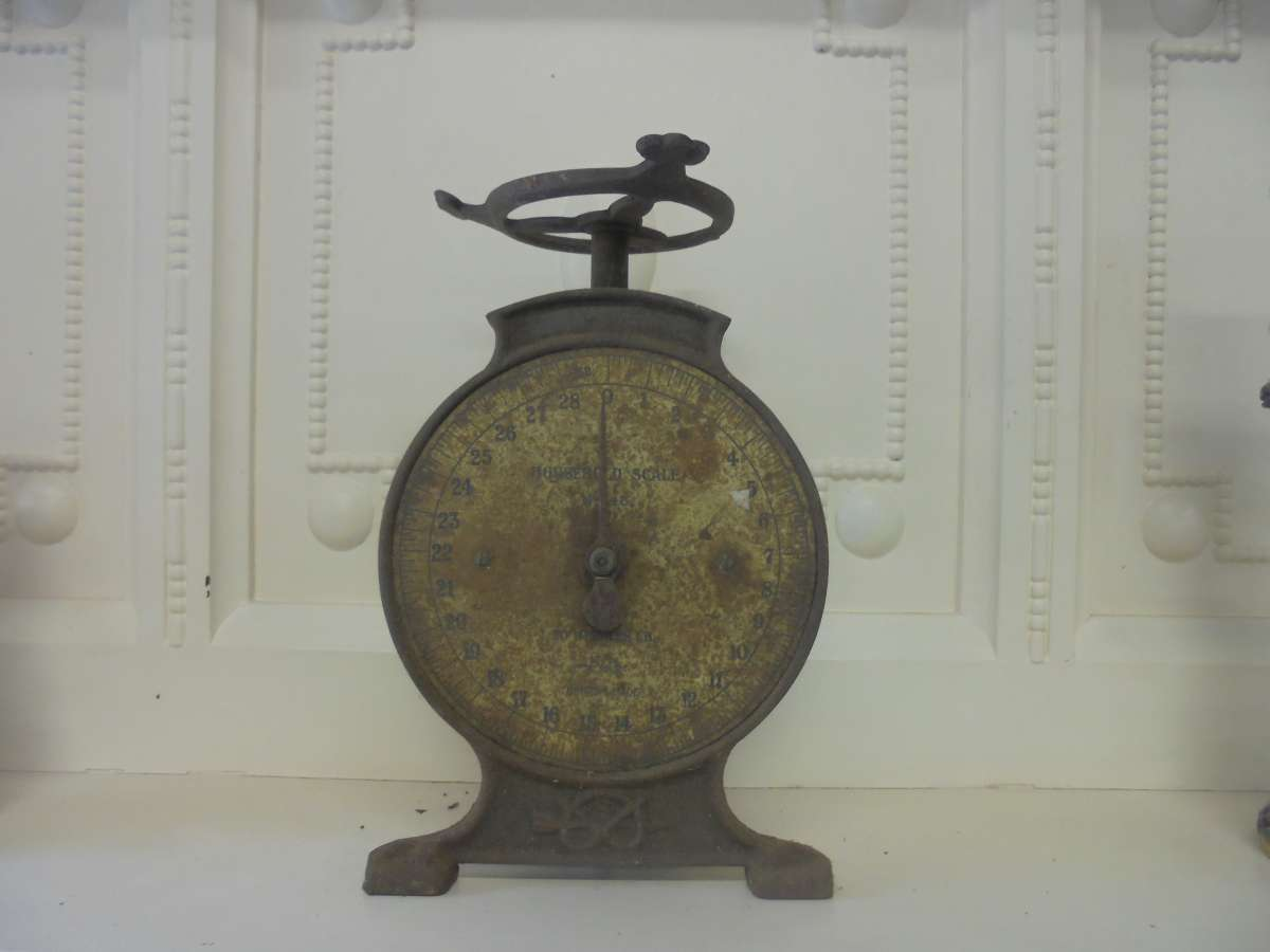 Reclaimed Metal Weighing Scales