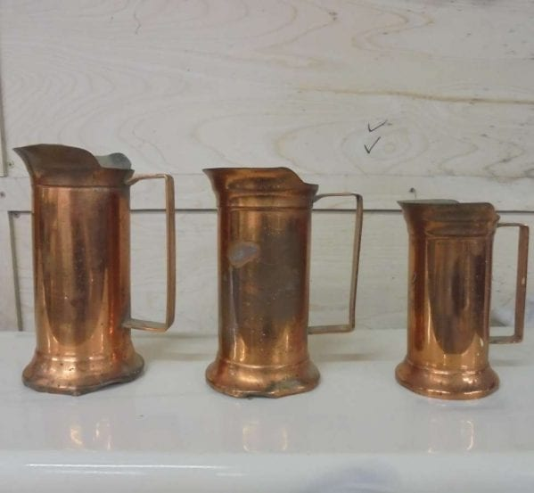 Reclaimed Trio Metal Measuring Jugs