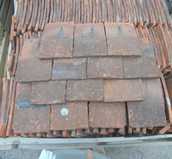 Reclaimed Orange Handmade Clay Nib Tiles