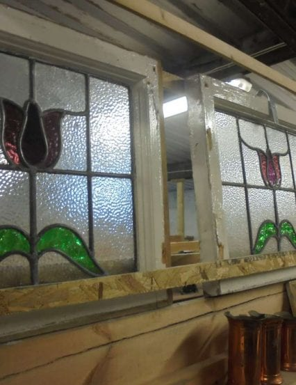 Rose styled stained glass windows