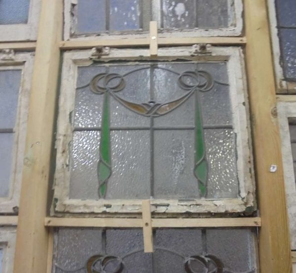 Drape styled stain glass windows