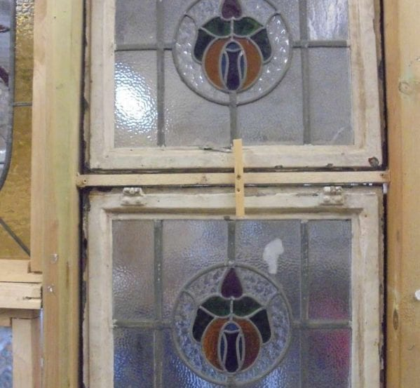 Original framed stain glass windows