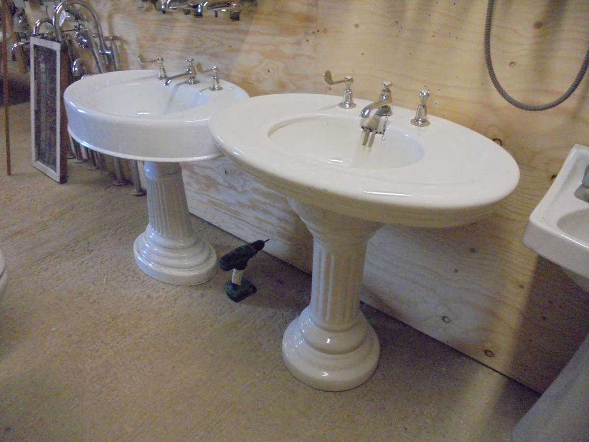 Reclaimed lefroy brooks bathroom sink authentic reclamation for Recycled bathroom sinks
