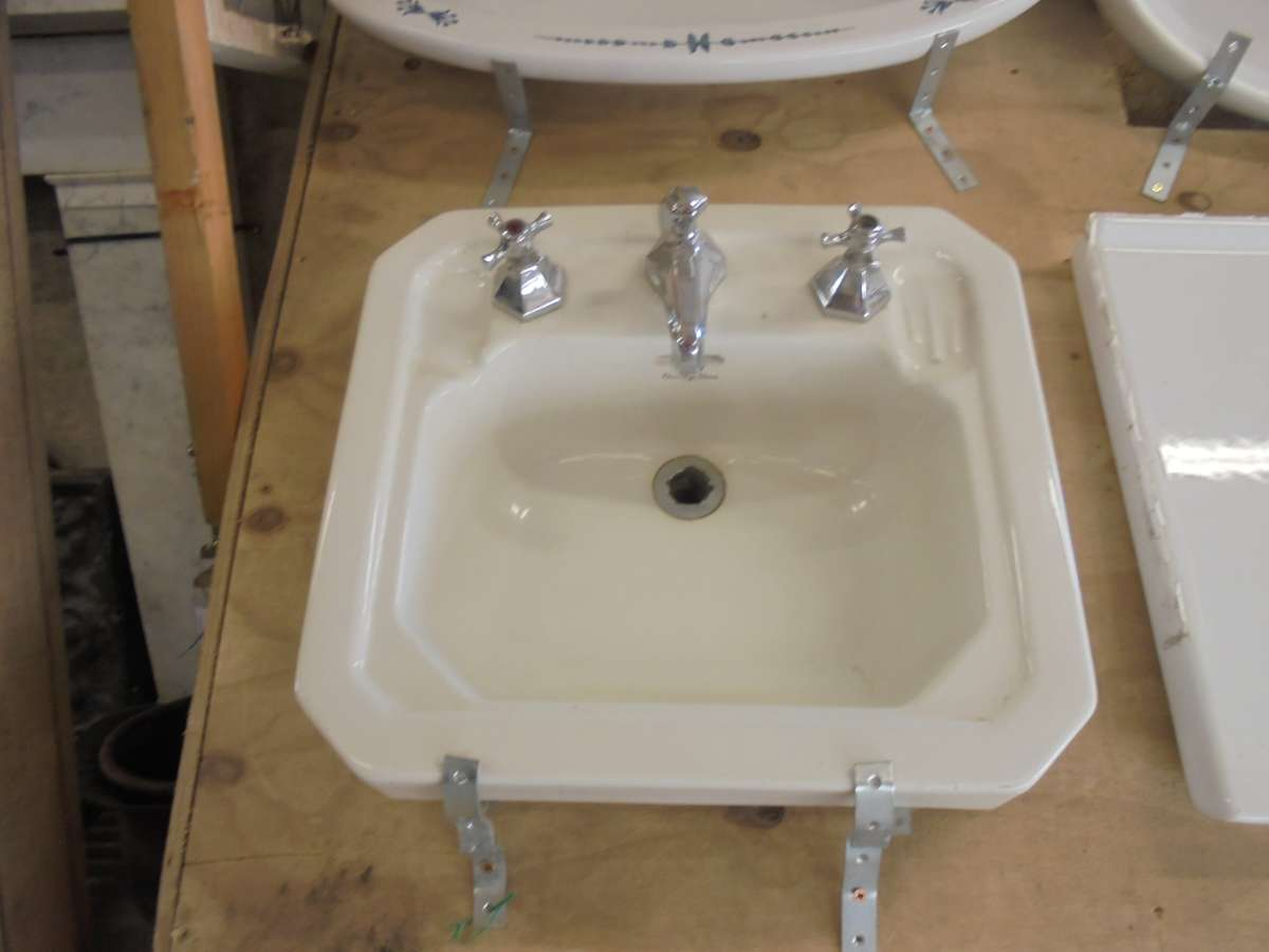 Reclaimed armitage ware bathroom sink authentic reclamation for Recycled bathroom sinks