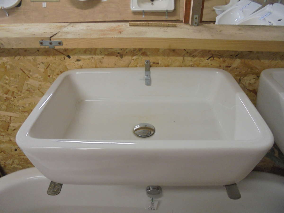Rectangular reclaimed bathroom sink authentic reclamation for Recycled bathroom sinks