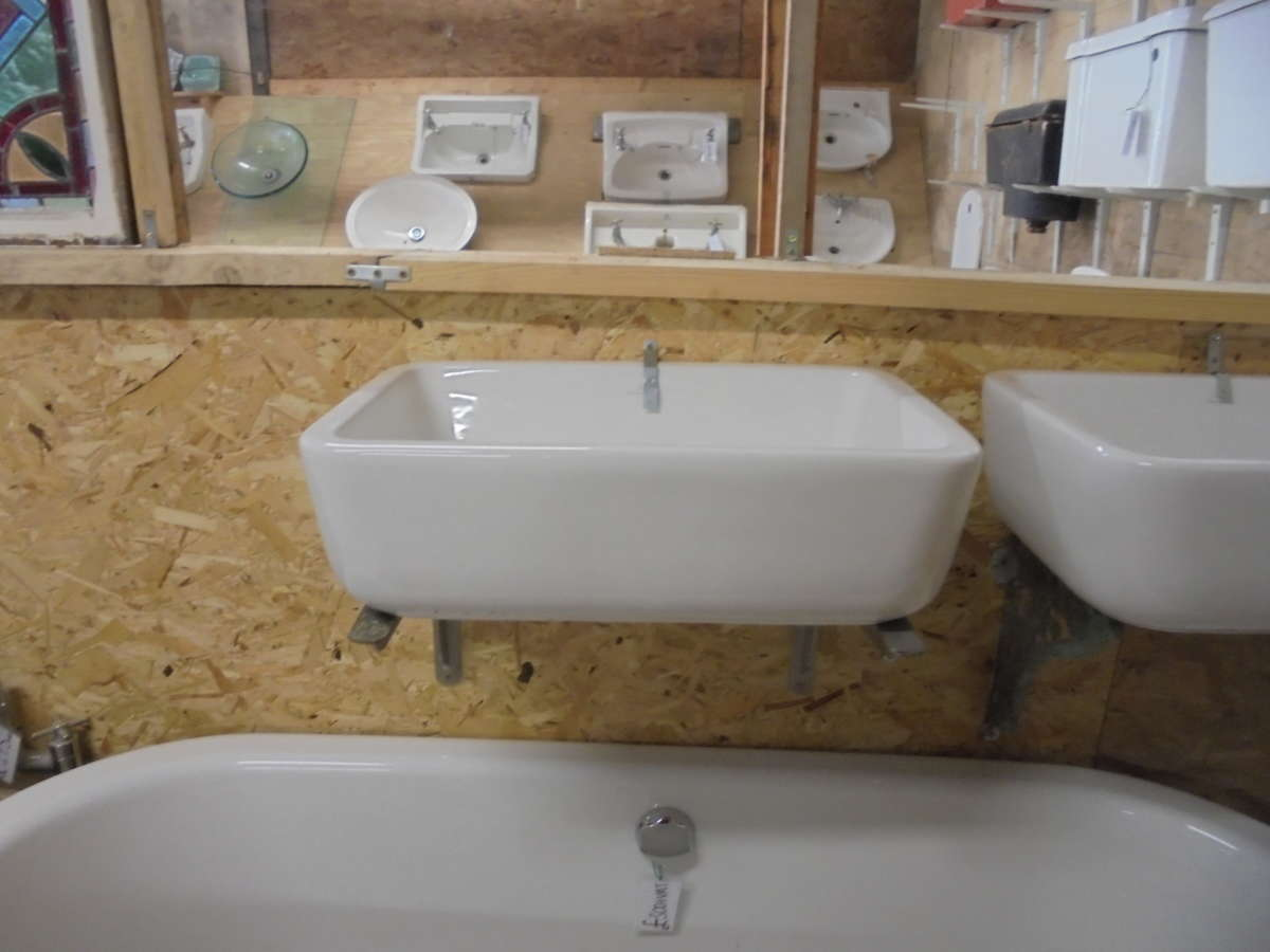 Rectangular reclaimed bathroom sink authentic reclamation for Recycled bathroom sinks