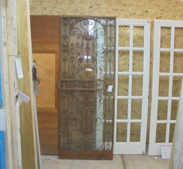 Decorative Wrought Iron Door