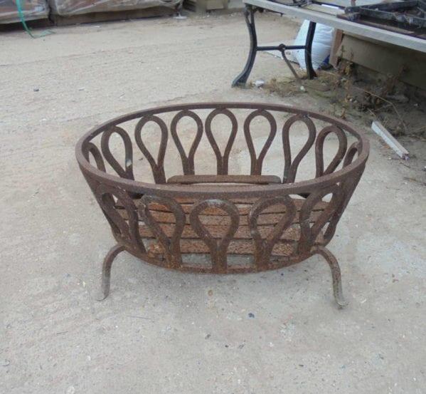 oval fire basket